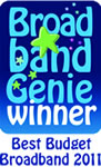 Broadband Genie Winner - Best Budget Broadband 2011