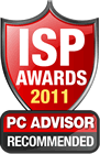 PC Advisor 2011 ISP Awards - Recommended plusnet